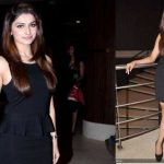 Prachi Desai, Black Peplum Dress