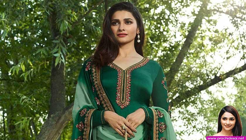 Green Vinay Prachi Desai Straight Long Suit