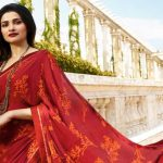 Prachi Desai wears red saree